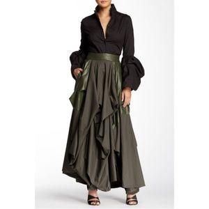 TOV Holy Skirts - Olive Damsel Maxi Skirt